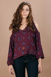Lovestitch Cold-Shoulder Blouse - Product Mini Image