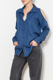 Insight Cold Shoulder Button Down Top - Product Mini Image