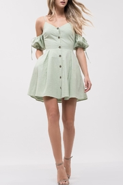 J.O.A. Cold-Shoulder Button-Up Dress - Product Mini Image