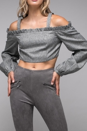 Do & Be Cold-Shoulder Crop Top - Product Mini Image