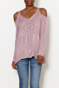 She + Sky Cold Shoulder Cutie top - Product List Image