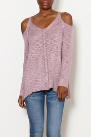 She + Sky Cold Shoulder Cutie top - Product Mini Image