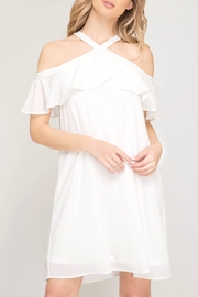 LuLu's Boutique Cold Shoulder Dress - Product Mini Image