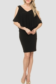 Joseph Ribkoff USA Inc. Cold Shoulder Dress - Front cropped