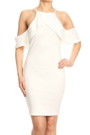 Blvd Cold Shoulder Fitted Dress - Product Mini Image