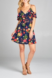 DNA Couture Cold-Shoulder Floral Dress - Product Mini Image