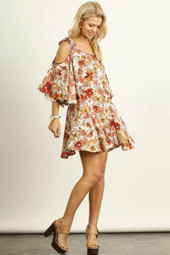 Umgee USA Cold Shoulder Floral Dress - Product List Image