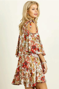 Umgee USA Cold Shoulder Floral Dress - Alternate List Image