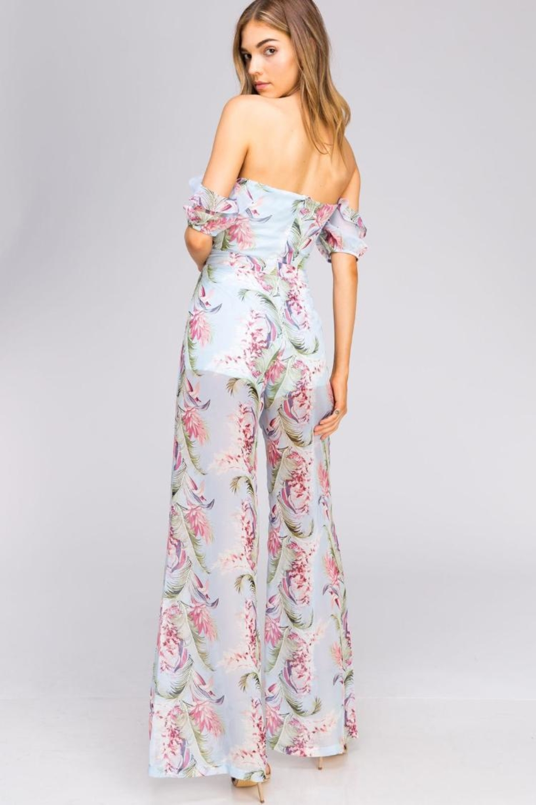 5708a047ed67c Blithe Cold-Shoulder Floral Jumpsuit from Los Angeles by Chikas ...