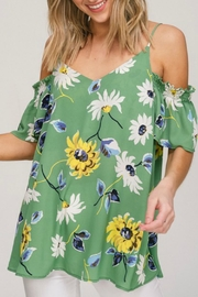 Hyped Unicorn Cold-Shoulder Floral Top - Product Mini Image