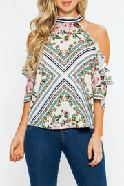Flying Tomato Cold shoulder floral top - Product Mini Image