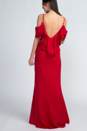 Minuet Cold Shoulder Gown - Front full body