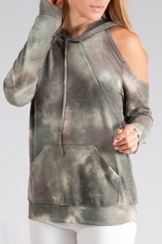 ENTI Cold Shoulder Hoodie - Front cropped