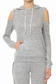 Ambiance Cold Shoulder Hoodie - Product Mini Image