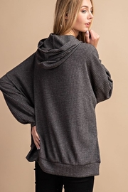 FSL Apparel COLD SHOULDER HOODIE TOP - Front full body