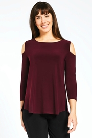 Sympli Cold-Shoulder Jersey Top - Product Mini Image
