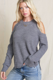 POL Cold Shoulder Knit Sweater - Product Mini Image