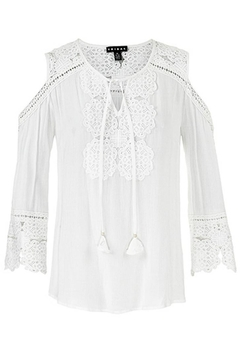 Shoptiques Product: Cold-Shoulder Lace Blouse