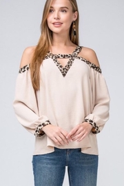 Entro  Cold-shoulder leopard print top - Product Mini Image