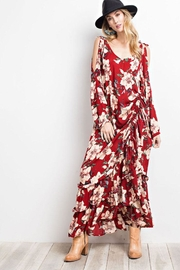 easel Cold Shoulder Maxi-Dress - Product Mini Image