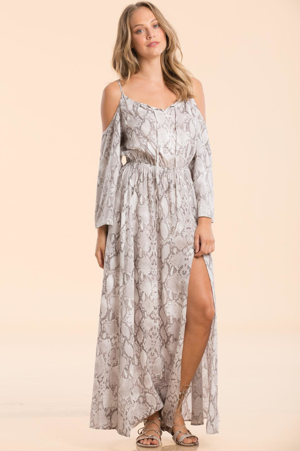 c4083b2c72c Elan Cold-Shoulder Maxi Dress from Miami by Neptunes — Shoptiques