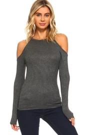 R+D Hipster Emporium  Cold Shoulder Mock-Neck - Product Mini Image