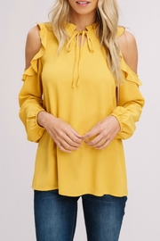 Listicle Cold-Shoulder Peasant Top - Front cropped