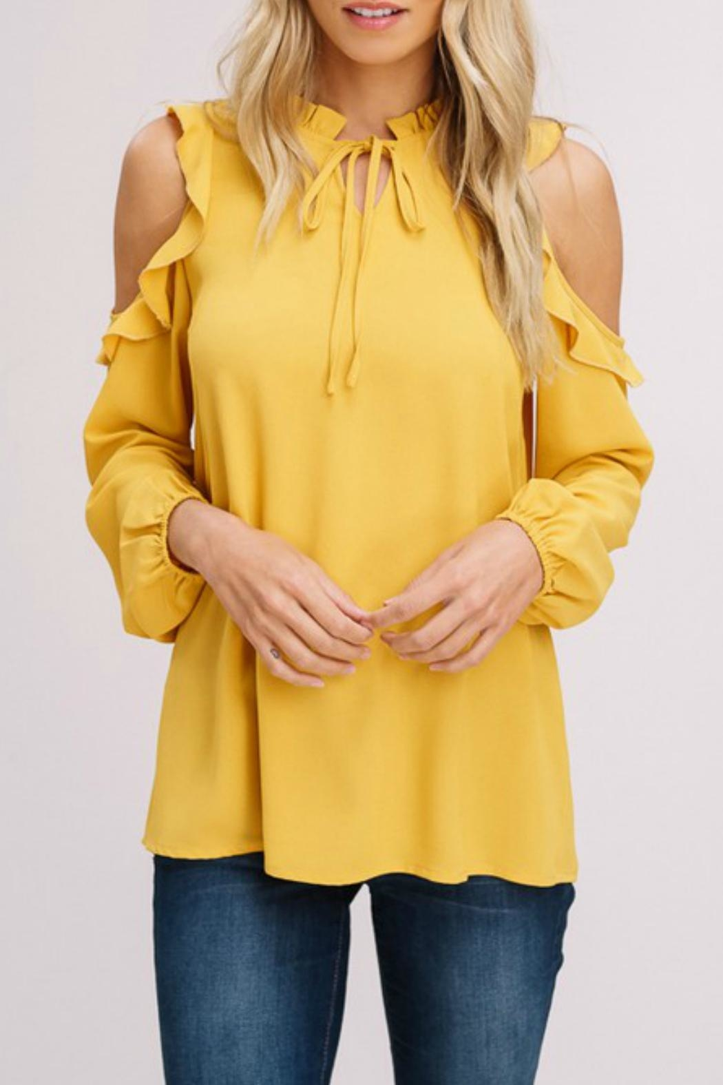 Listicle Cold-Shoulder Peasant Top - Main Image