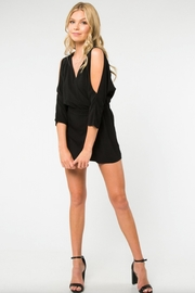 Everly Cold Shoulder Romper - Product Mini Image