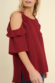 Umgee  Cold Shoulder Ruffle - Product Mini Image