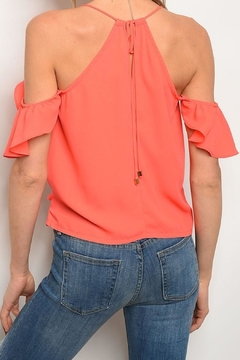 Solaris Style Cold-Shoulder Ruffle Halter - Alternate List Image
