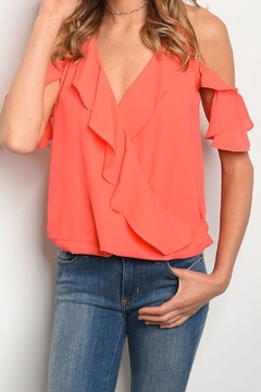 Solaris Style Cold-Shoulder Ruffle Halter - Product List Image