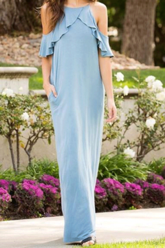 Sweet Pea Cold Shoulder Ruffle Maxi - Product List Image