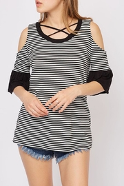 Fantastic Fawn Cold-Shoulder Ruffle-Sleeve Top - Product Mini Image