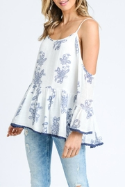 Doe & Rae Cold Shoulder Ruffle - Product Mini Image