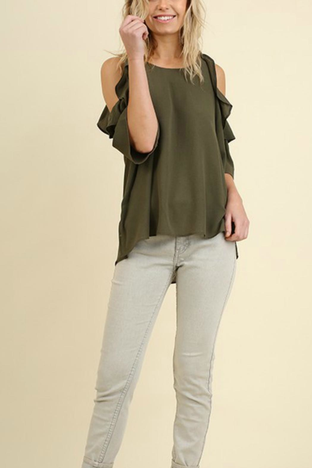 6ba0545c9d7bf5 Umgee USA Cold-Shoulder Ruffled-Sleeve Top from Texas by Ale s ...