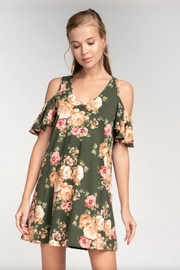 Everly Cold-Shoulder Shift Dress - Product Mini Image