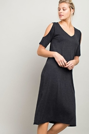 LLove USA Cold Shoulder Shirt-Dress - Product Mini Image