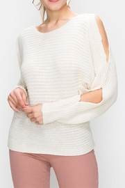 Favlux Cold Shoulder Sweater - Product Mini Image