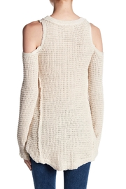 Elan Cold Shoulder Sweater - Front full body