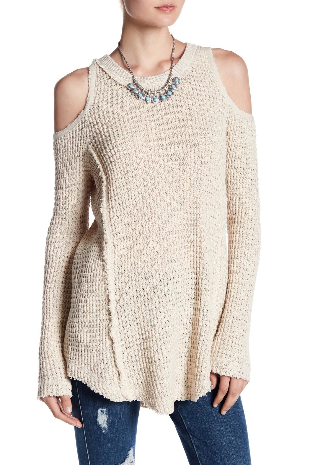Elan Cold Shoulder Sweater - Main Image