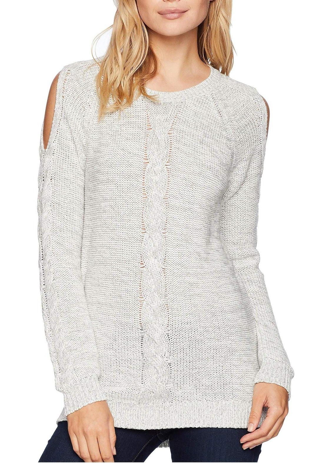 Tribal Cold Shoulder Sweater - Main Image
