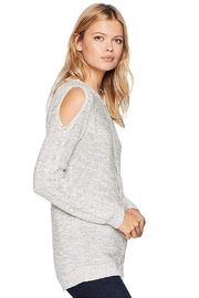 Tribal Cold Shoulder Sweater - Front full body