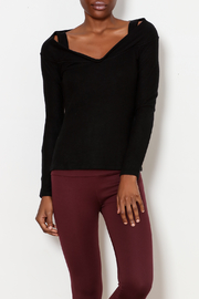 Three Dots Cold Shoulder Sweater - Product Mini Image