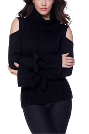 French Kyss Cold Shoulder Sweater - Product Mini Image