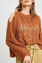 Wishlist Cold Shoulder  Sweater - Front cropped