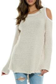 Cold Shoulder Sweater - Front cropped