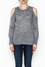 love token Cold Shoulder Sweater - Front full body
