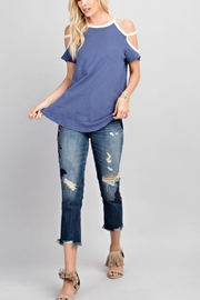 143 Story Cold Shoulder Tee-Top - Product Mini Image