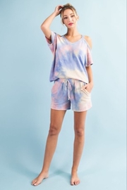 ee:some Cold Shoulder Tie Dye Top - Product Mini Image